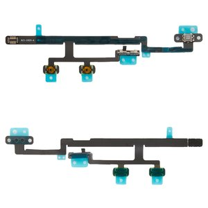 Flat Cable for Apple iPad Mini 2 Retina, iPad Mini 3 Retina Tablets, (side buttons,  ON/OFF button, with component)