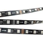 RGB LED Strip SMD5050, WS2818 (black, with controls, IP20, 12 V, 60 LEDs/m, 5 m)