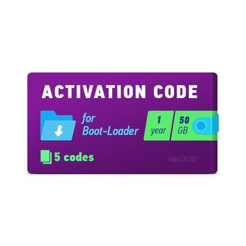 Boot-Loader 2.0 Código de activación (1 año, 5 códigos x 50 GB)
