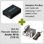 Octoplus Pro Box + Estación de soldadura de aire caliente Accta 301A (110 V)