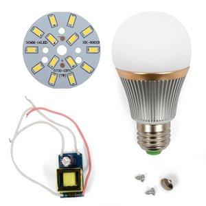Комплект для сборки светодиодной лампы SQ-Q22 7 Вт (холодный белый, E27)