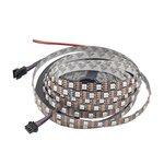 Светодиодная лента RGB SMD5050, WS2813 (черная, с управлением, IP20, 5 В, 60 диодов/м, 5 м)