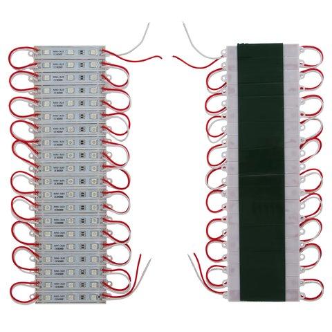 Світлодіодний модуль стрічка SMD 5050, 20 шт. по 3 світлодіоди червоний, самоклеючий, 1200 лм, 12 В, IP65